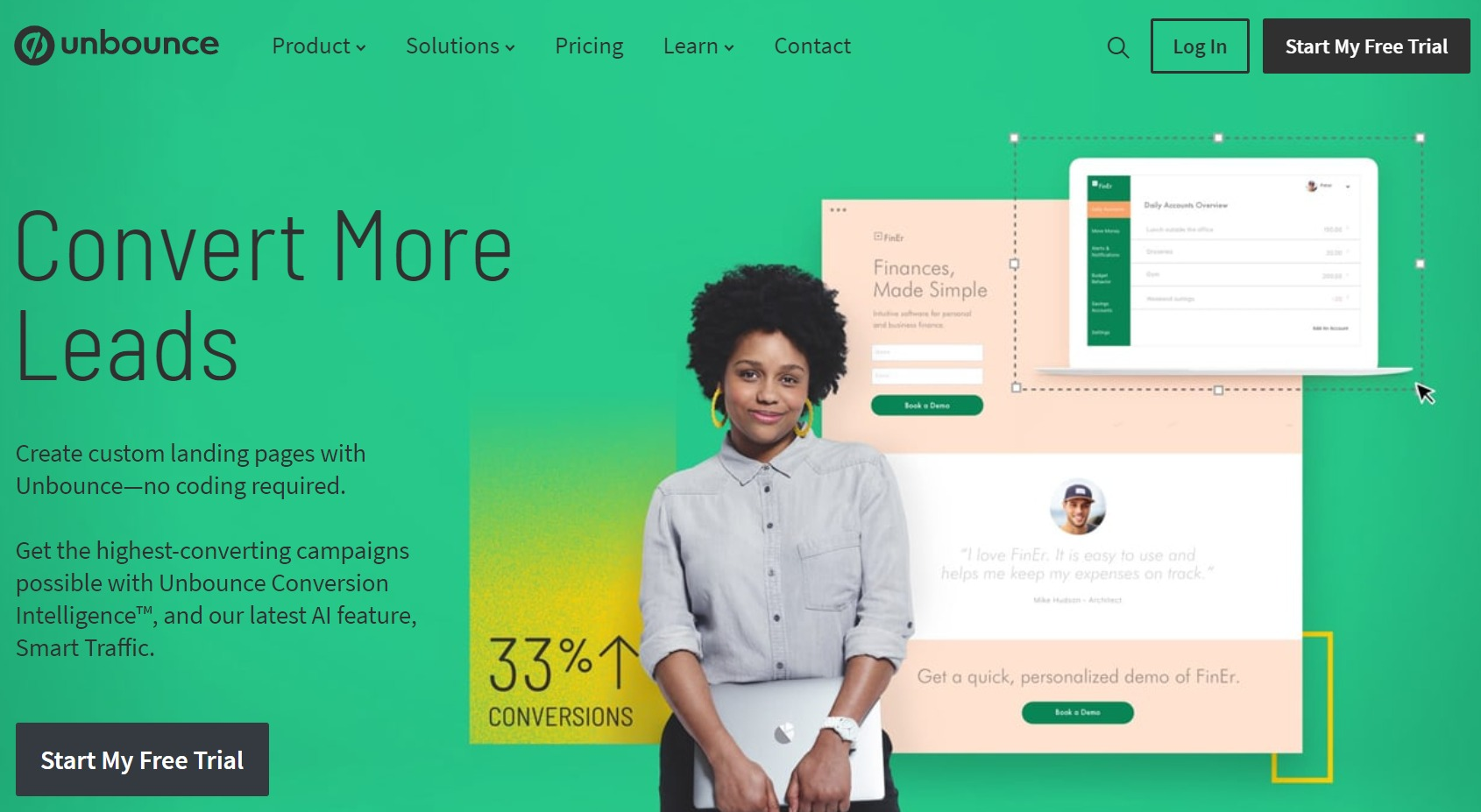 unbounce landing page